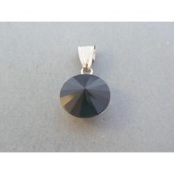 Strieborný dámsky prívesok kameň swarovského DIS240 925/1000 2.40g
