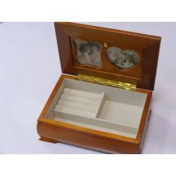 Dámska šperkovnica drevá hnedá VS4745