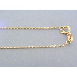 Zlatá retiazka s príveskom srdiečka kamienky žlté zlato DR45440Z 14 karátov 585/1000 4.40g