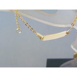 Zlatý náramok žlté zlato platnička  DN16160Z 14 karátov 585/1000 1.60g