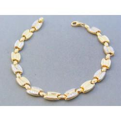 Zlatý dámsky náramok žlté biele zlato vzorovaný DN195538V 14 karátov 585/1000 5.38g