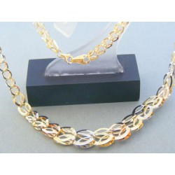 6c156a391 ... Zlatá dámska retiazka náhrdelnik žlté biele červené zlato DR45917V 14  ...