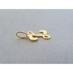 Zlatý prívesok písmeno Z vzorovaný žlté zlato DI048Z 14 karátov 585/1000 0.48g
