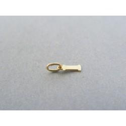 Zlatý prívesok I hladký žlté zlato DI014Z 14 karátov 585/1000 0.14g