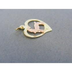 Zlatý prívesok znamenie kozorožec žlté červené zlato DI065Z 14 karátov 585/1000 0.65g