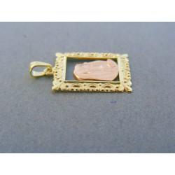 Zlatý prívesok sv. obrázok žlté červené zlato VI143V 14 karátov 585/1000 1.43g