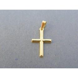 Zlatý prívesok krížik žlté zlato VIK068Z 14 karátov 585/1000 0.68g