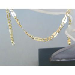 Zlatý náramok žlté zlato vzor figáro VN18192Z 14 karátov 585/1000 1.92g