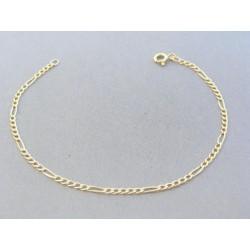 Zlatý náramok vzor figáro žlté zlato VN20221Z 14 karátov 585/1000 2.21g