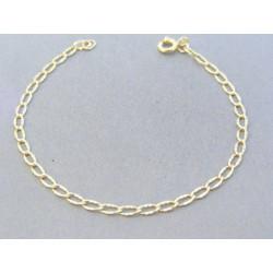 Zlatý náramok očká zdobený žlté zlato VN18174Z 14 karátov 585/1000 1.74g