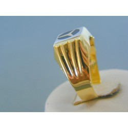 Zlatý pánsky prsteň mercedes žlté zlato VP66412Z 14 karátov 585/1000 4.12g