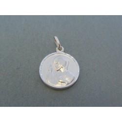 Zlatý prívesok sv. obrázok biele zlato VI181B 14 karátov 585/1000 1.81g
