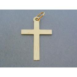 Zlatý prívesok krížik žlté zlato jemný vzor VIK106Z 14 karátov 585/1000 1.06g
