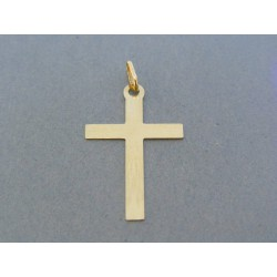Zlatý prívesok krížik jemný vzor žlté zlato DIK107Z 14 karátov 585/1000 1.07g
