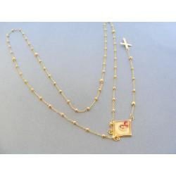Zlatá retiazka ruženec žlté zlato DR73890Z 14 karátov 585/1000 8.90g