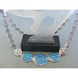 Strieborná dámska retiazka náhrdelnik kameň opál DRS4452876 925/1000 28.76g