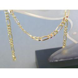 Zlatý náramok žlté zlato vzor figáro DN195205Z 14 karátov 585/1000 2.05g
