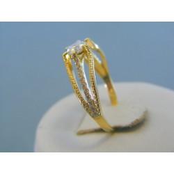 Zlatý dámsky prsteň žlté zlato zirkóny DP57260Z 14 karátov 585/1000 2.60g