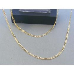 Zlatá retiazka žlté zlato vzor figáro  DR56498Z 14 karátov 585/1000 4.98g