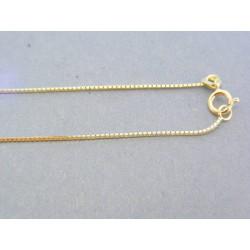 Zlatá retiazka lánko žlté zlato DR45128Z 14 karátov 585/1000 1.28g