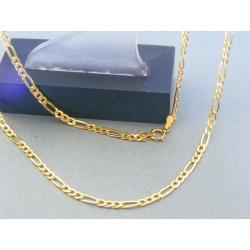 Zlatá retiazka vzor figáro žlté zlato DR505245Z 14 karátov 585/1000 2.45g