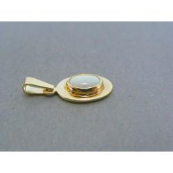 Zlatý dámsky prívesok kameň opál žlté zlato DI144Z 14 karátov 585/1000 1.44g