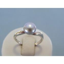Strieborný dámsky prsteň perla DPS57340 925/1000 3.40g