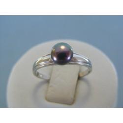 Strieborný dámsky prsteň perla DPS55169 925/1000 1.69g