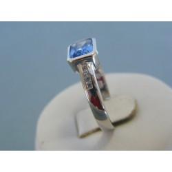 Strieborný dámsky prsteň modrý kameň DPS59397 925/1000 3.97g