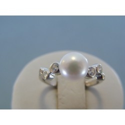 Strieborný dámsky prsteň perla DPS56293 925/1000 2.93g