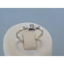 Strieborný dámsky prsteň jemný tvar kamienok DPS58193 925/1000 1.93g