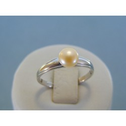 Strieborný dámsky prsteň perla DPS59185 925/1000 1.85g
