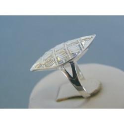 Strieborný dámsky prsteň vzorovaný DPS55235 925/1000 2.35g