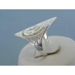 Strieborný dámsky prsteň vzorovaný DPS56298 925/1000 2.98g
