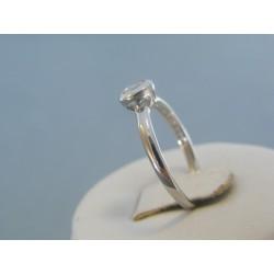 Strieborný dámsky prsteň priehľadný zirkón DPS54169 925/1000 1.69g