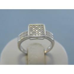Strieborný dámsky prsteň číre zirkóny DPS54275 925/1000 2.75g