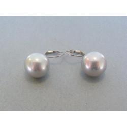 Strieborné dámske náušnice perla DAS860 925/1000 8.60g