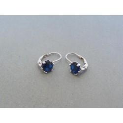 Strieborné dámske náušnice modrý kameň DAS182 925/1000 1.82g