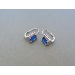 Strieborné dámske náušnice modrý kameň DAS226 925/1000 2.26g