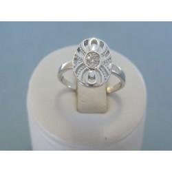 Strieborný dámsky prsteň číre zirkóny DPS52489 925/1000 4.89g