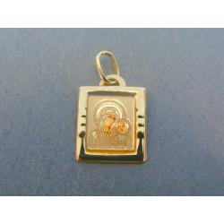 Zlatý prívesok sv. obrázok žlté zlato DI080Z 14 karátov 585/1000 0.80g