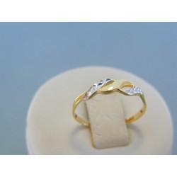 Zlatý dámsky prsteň vzorovaný žlté biele zlato DP54095V 14 karátov 585/1000 0.95g