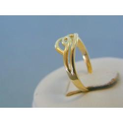 Zlatý dámsky prsteň vzorovaný žlté zlato DP53156Z 14 karátov 585/1000 1.56g