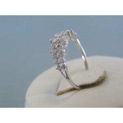 Zlatý dámsky prsteň biele zlato číre zirkóny DP51201B 14 karátov 585/1000 2.01g