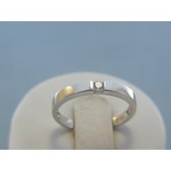 Zlatý dámsky prsteň biele zlato zirkón DP54211B 14 karátov 585/1000 2.11g