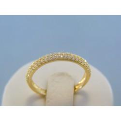 Zlatý dámsky prsteň žlté zlato číre zirkóny DP56168Z 14 karátov 585/1000 1.68g