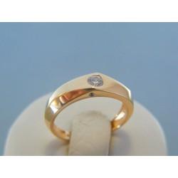 Zlatý dámsky prsteň červené zlato kamienok DP54213C 14 karátov 585/1000 2.13g
