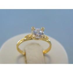 Zlatý dámsky prsteň zirkóny žlté zlato DP51195Z 14 karátov 585/1000 1.95g