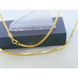 Zlatá retiazka žlté zlato očká VR50303Z 14 karátov 585/1000 3.03g
