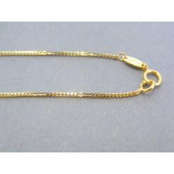 Zlatá retiazka žlté zlato jemné očká VR42191Z 14 karátov 585/1000 1.91g